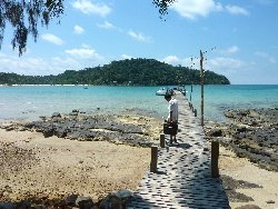 2the high season only wooden pier at the Koh Kood Resort